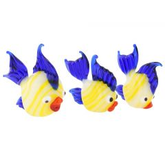 Murano Glass Fish Family