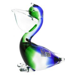 Murano Glass Pelican Bird - Blue and Green