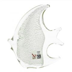 Murano Glass Fish - Sparkling Silver