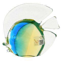 Murano Glass Tropical Fish - Amber Aqua