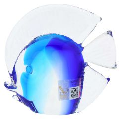 Murano Glass Tropical Fish - Aqua Blue