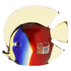 Murano Glass Tropical Fish - Red Blue Amber
