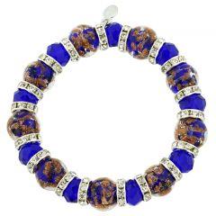 Murano Symphony Stretch Bracelet - Blue