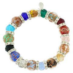 Murano Symphony Stretch Bracelet - Multicolor