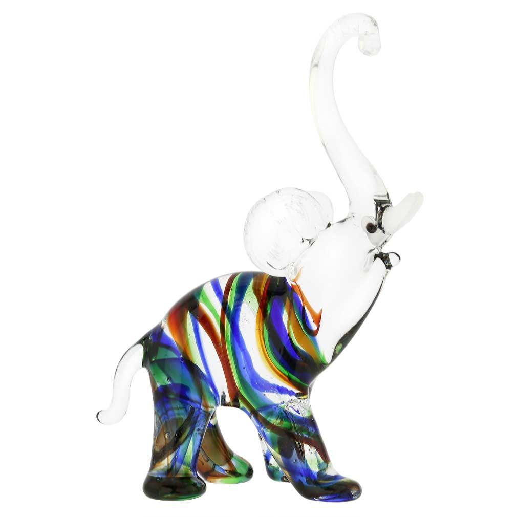 Striped Glass Elephant