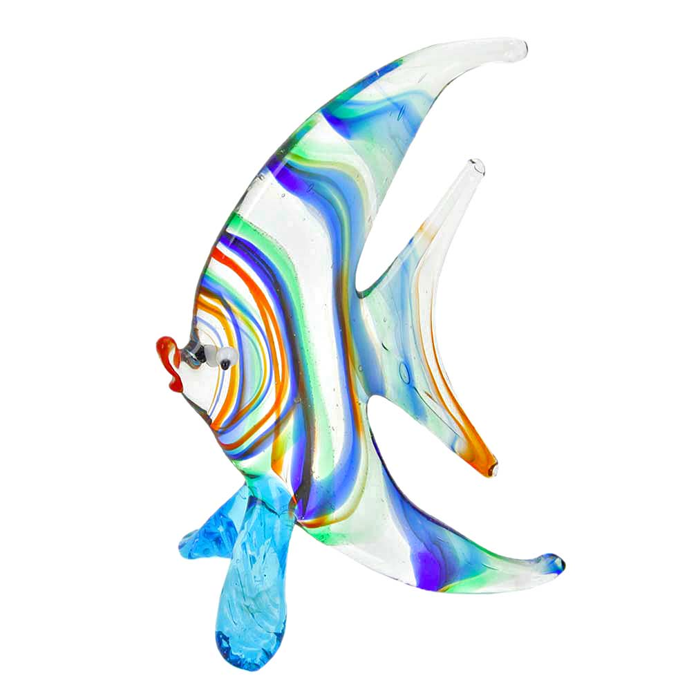 Striped Glass Half-Moon-Shaped Fish