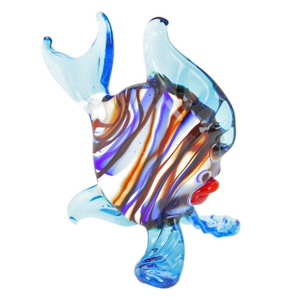 Striped Glass Round Fish