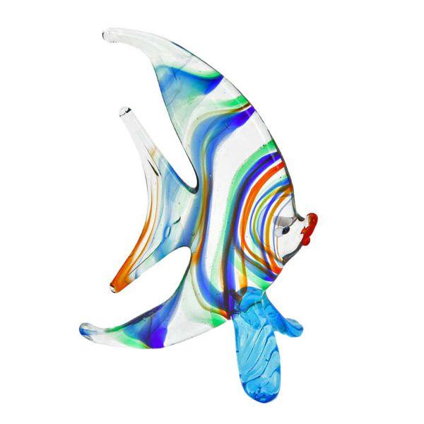 Striped Glass Half-Moon-Shaped Fish