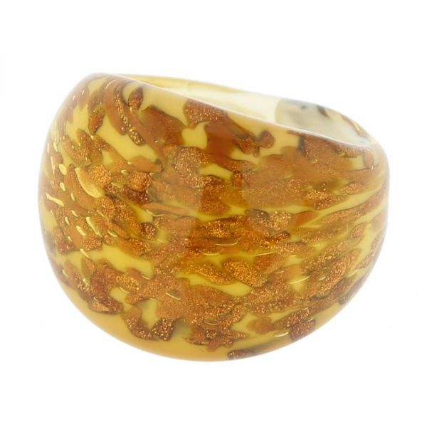 Avventurina Honey Ring In Domed Design