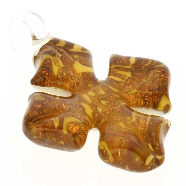 Avventurina Honey Cross-Shaped Pendant
