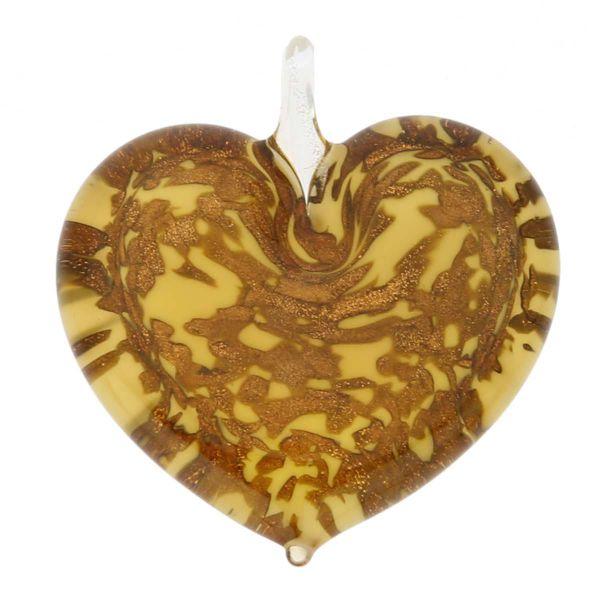 Avventurina Honey Heart Pendant