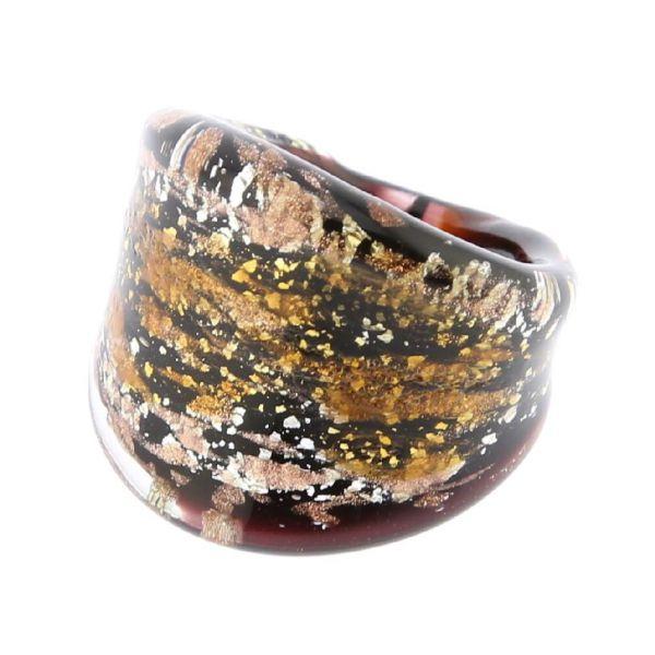 Golden Brown Sparkle Ring