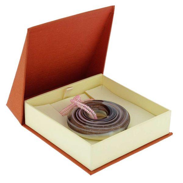 Bagel Pendant Necklace - Purple