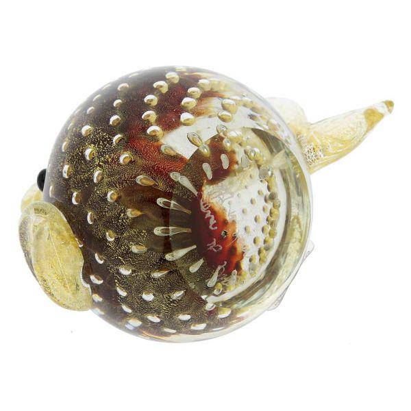 Murano Glass Bullicante Fish - Red