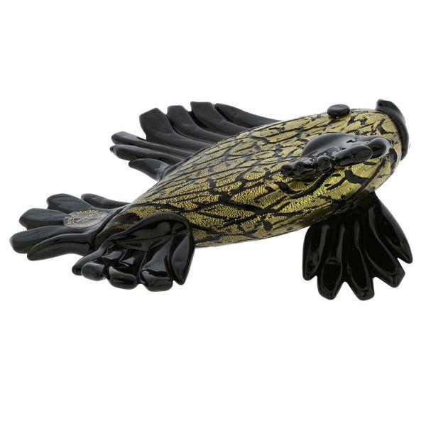 Murano Glass Black Tropical Fish