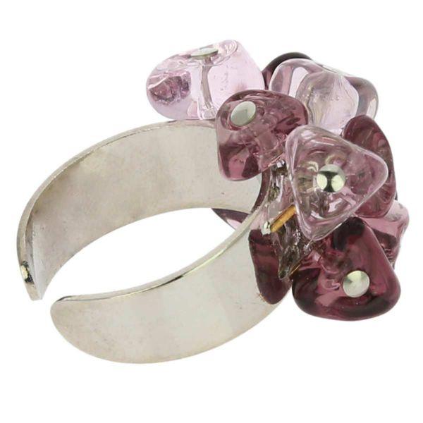 Preziosa Murano Glass Ring - Purple