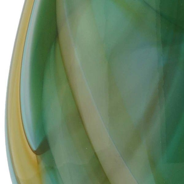 Murano Art Glass Vase - Green Brown Blue