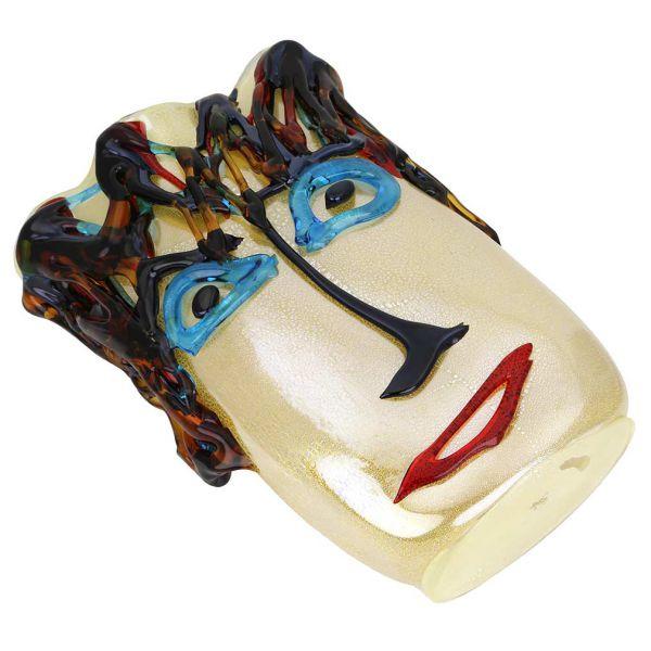 Murano Glass Picasso Head Vase - Tall