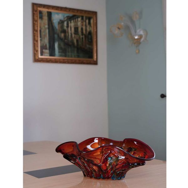 Murano Glass Mars Centerpiece Bowl