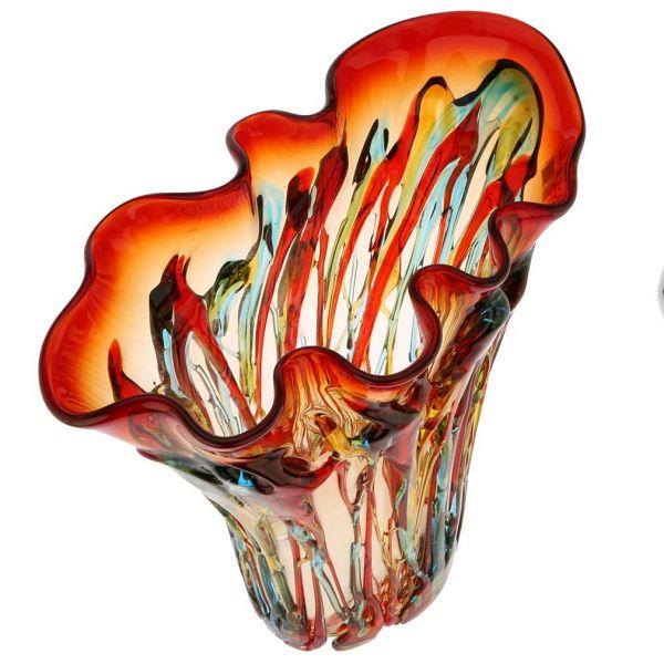 Murano Glass Mars Abstract Art Vase
