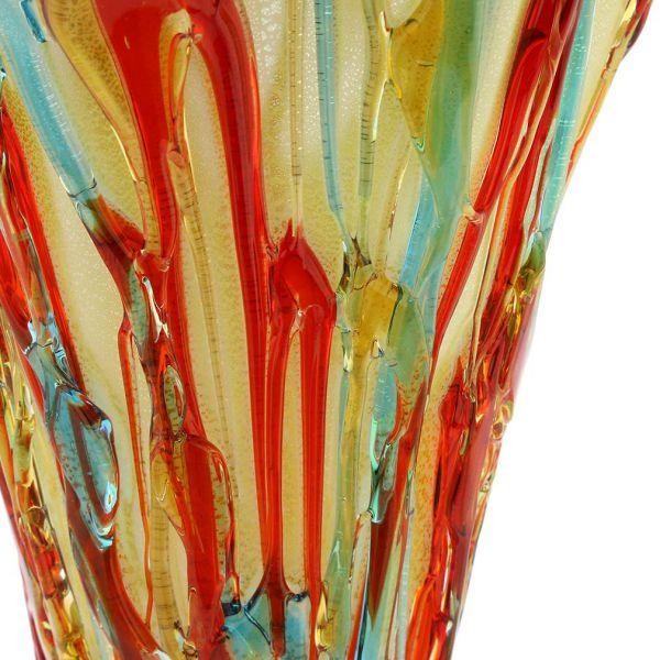 Murano Glass Vesuvio Abstract Fountain Vase