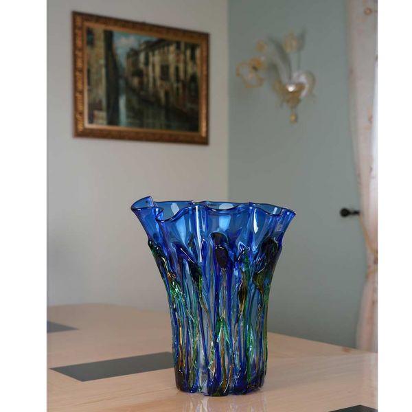 Murano Glass Oceanos Abstract Art Vase