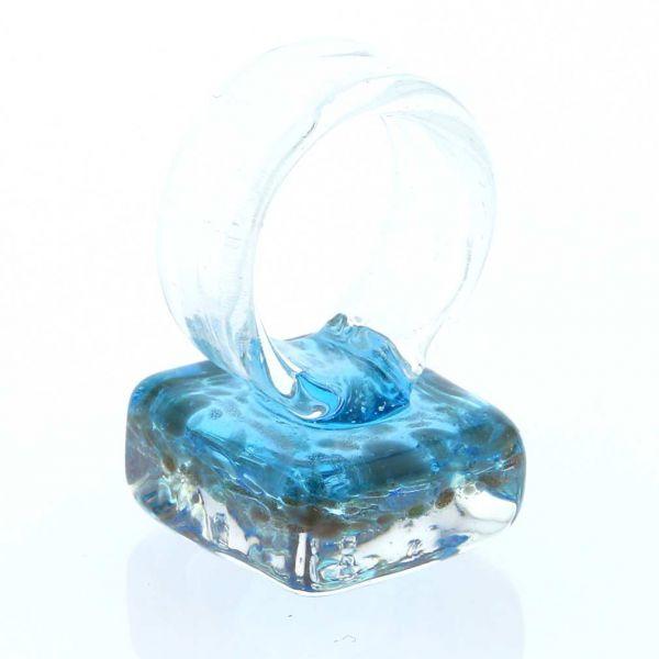 Starlight Square Ring - Aquamarine