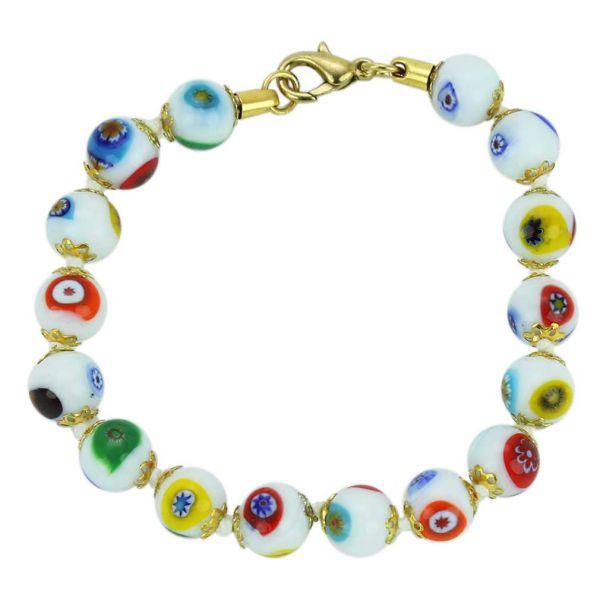 Murano Mosaic Bracelet - White