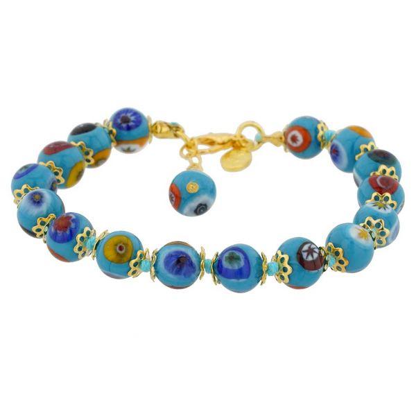 Murano Mosaic Bracelet - Aqua