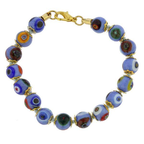 Murano Mosaic Bracelet - Periwinkle