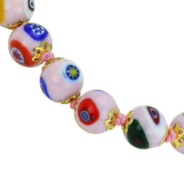 Murano Mosaic Bracelet - Pink