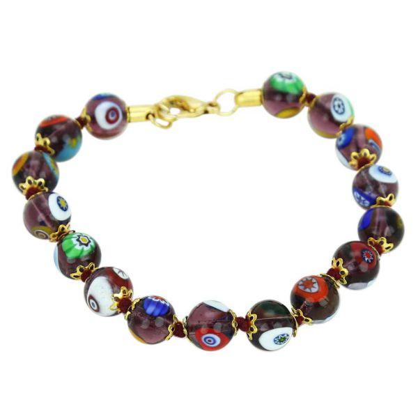 Murano Mosaic Bracelet - Transparent Purple
