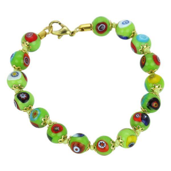 Murano Mosaic Bracelet - Seafoam Green