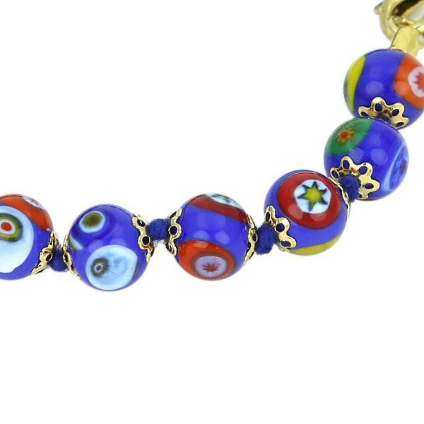 Murano Mosaic Bracelet - Blue