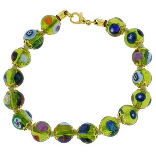 Murano Mosaic Bracelet - Herb Green