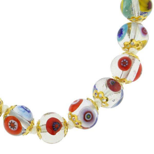 Murano Mosaic Bracelet - Transparent