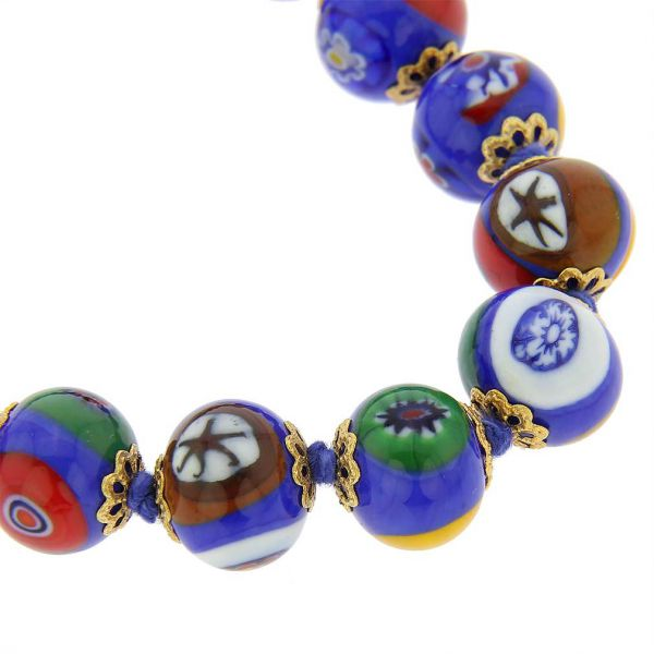 Murano Mosaic Necklace - Blue