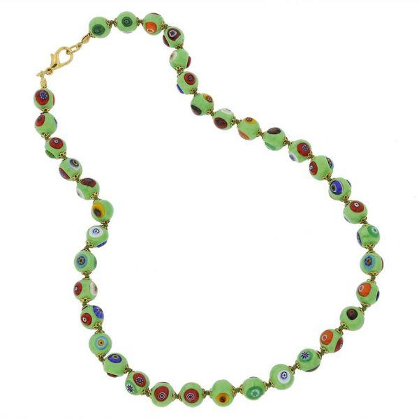 Murano Mosaic Necklace - Seafoam Green