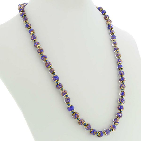 Sommerso Long Necklace - Navy Blue