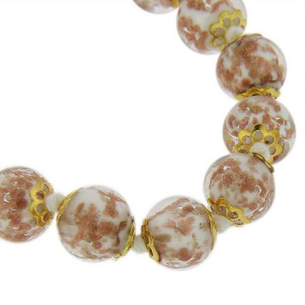 Sommerso Long Necklace - Milky White