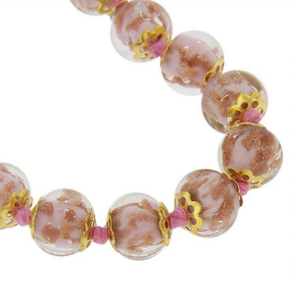 Sommerso Long Necklace - Pink