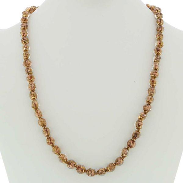 Sommerso Long Necklace - Transparent Golden Brown