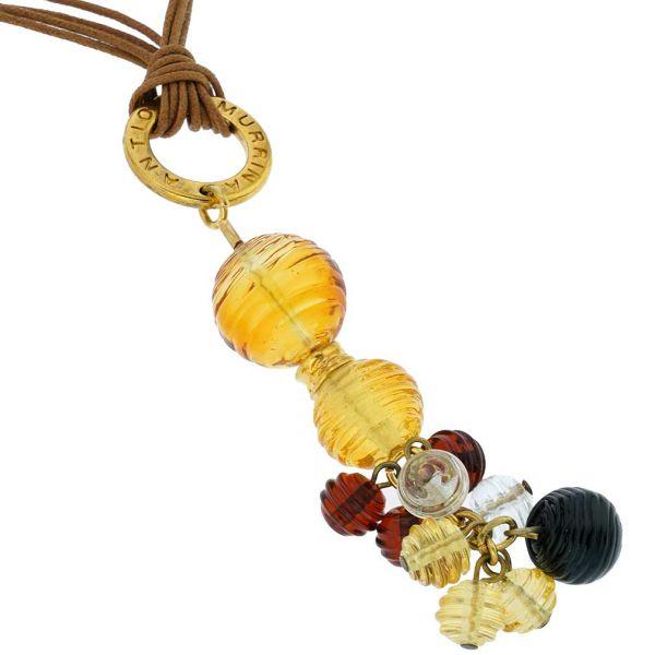 Teti Murano Necklace - Golden Brown