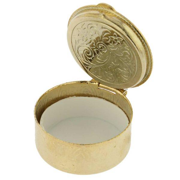 Small Murano Millefiori Pill Box - Round