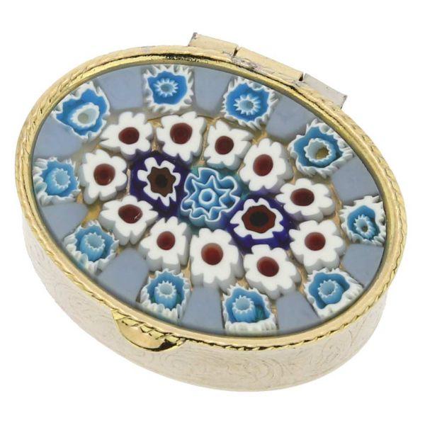Murano Millefiori Small Pill Box - Oval