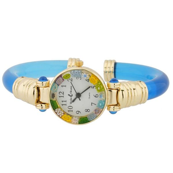 Murano Millefiori Bangle Watch - Navy Blue