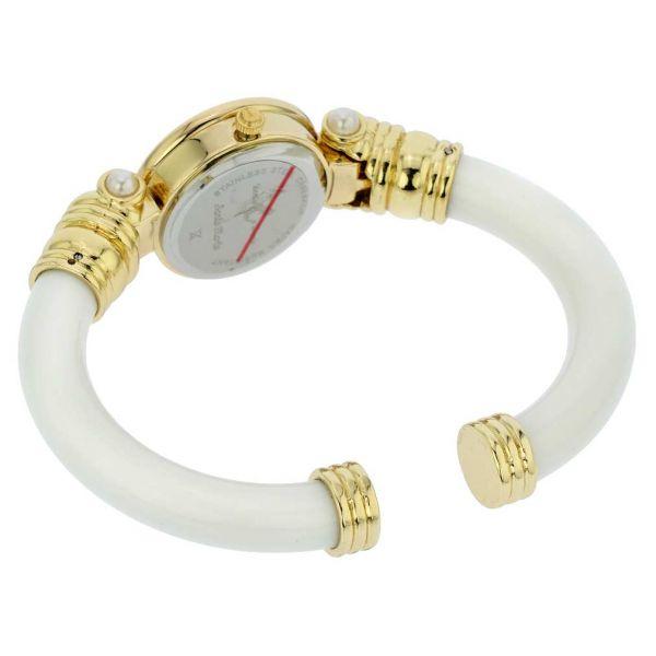 Murano Millefiori Bangle Watch - White
