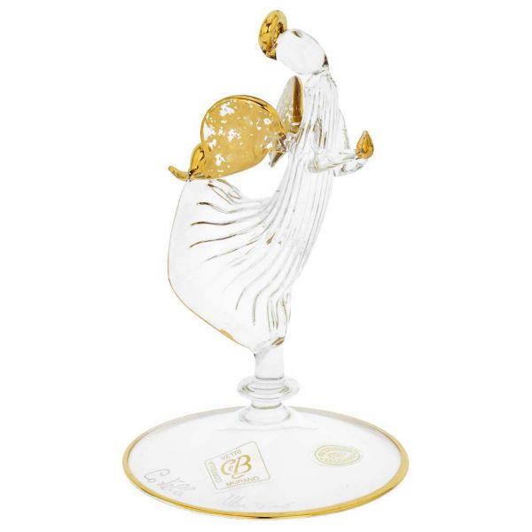 Murano Glass Angel Figurine - Clear