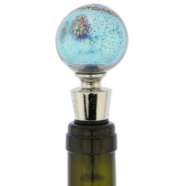 Murano Glass Millefiori and Gold Bottle Stopper
