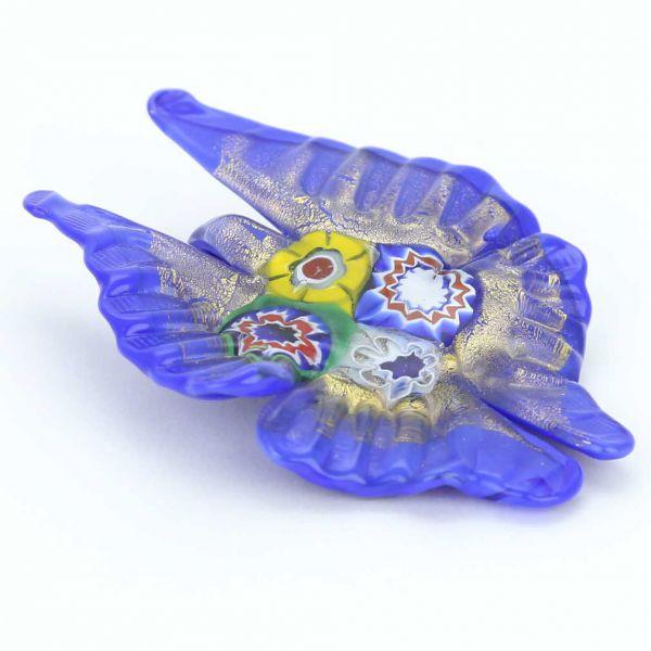 Venetian Butterfly Millefiori Pendant